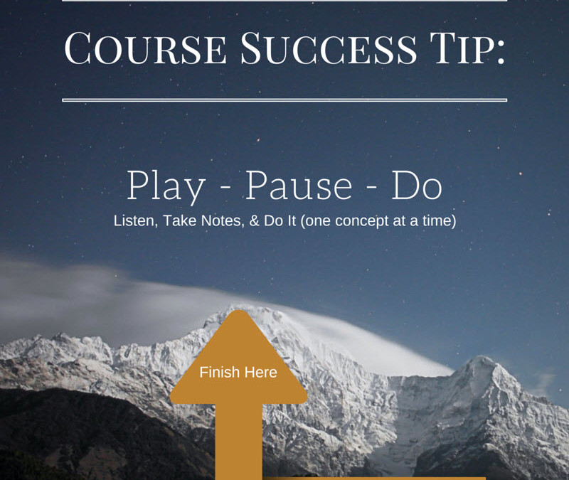 Course Success Tip