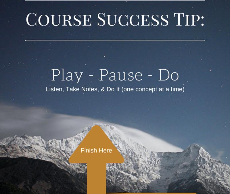 Course Success Tip