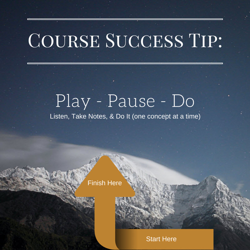 How to succeed with any learning coures materials fast
